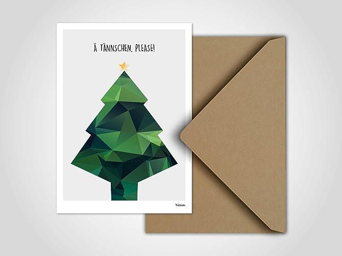 Ä Tännchen please/Weihnachtskarte, Grußkarte, Karte, Weihnachten ...