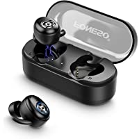 Bluetooth Earbuds, FONESO TWS True Wireless Earbuds Bluetooth 5.0 Earphones, Sweatproof Noise Cancelling Earpieces, Cordless Headpohone in-Ear Stereo Headsets for Sport Running, fit iOS Android Windows iPhone Samsung, Built in Mic, with One-Step Pairing