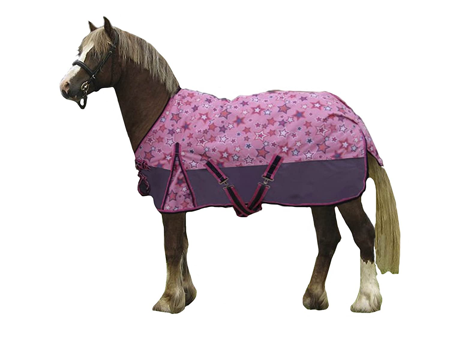 Derby Originals 600D Shimmering Star Miniature Horse and Pony Turnout Blanket 80-8051-PK-54-P
