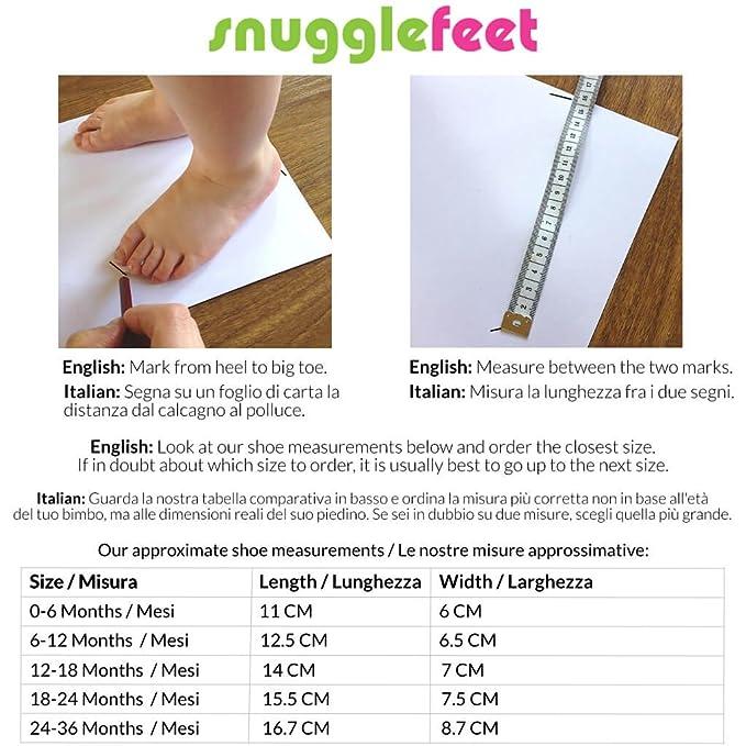 Snuggle Feet - Suaves Zapatos De Cuero Del Bebé Calavera (24-36 meses): Amazon.es: Bebé