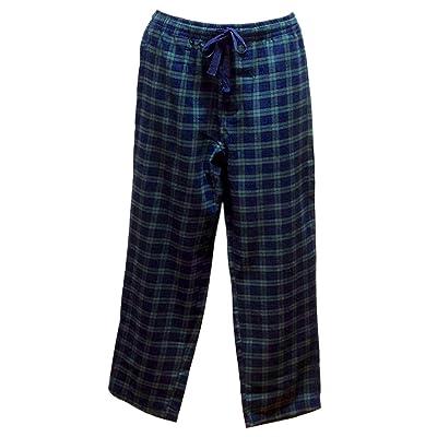 Lee Valley Genuine Irish Flannel Lounge Pants, Men's Pajamas (Small, Green Tartan) at Men's Clothing store