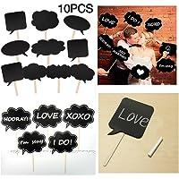 JZK® 10 piezas Accesorios para Photocalls Photocall Party Set Photocalls Papel de Cartulina con Palillo Decorados para…