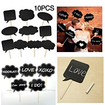 JZK® 10 Piezas Accesorios para Photocalls Photocall Party Set Photocalls Papel de Cartulina con Palillo Decorados para Fiestas Decorativo para Fiesta ...