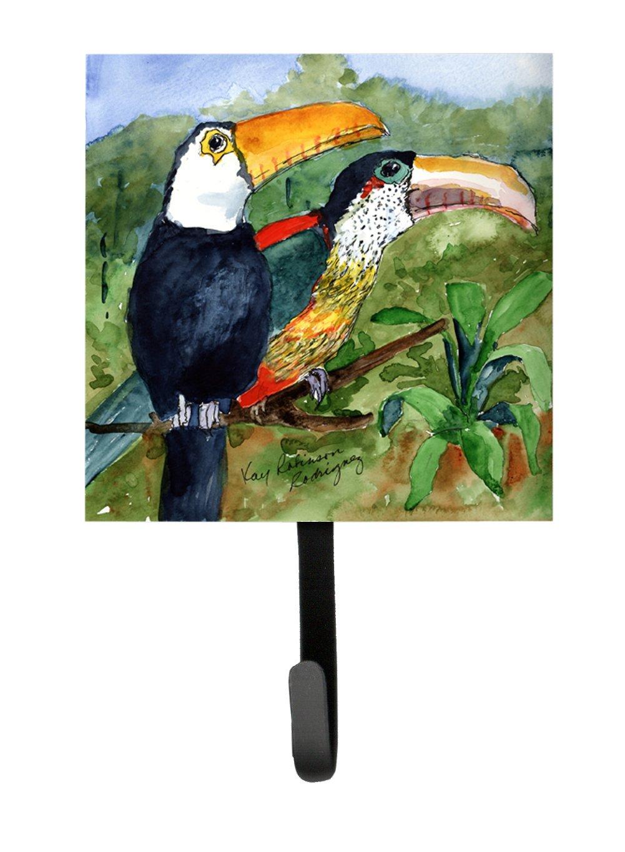 Carolines Treasures KR9032SH4 Bird-Toucan Leash Holder or Key Hook Small Multicolor