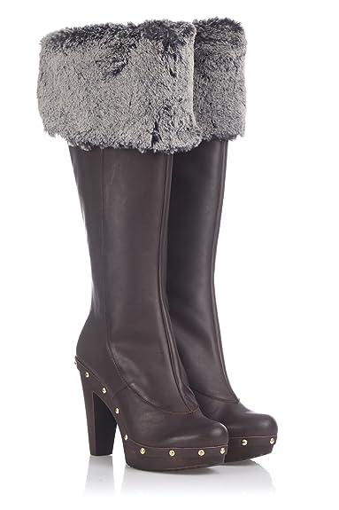 Laura Moretti Damen Swedish Nailed Boot Stiefel, Schwarz, 38 EU