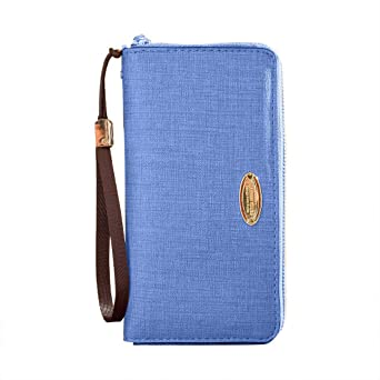 Amazon.com: Moonite - Cartera de piel larga con cremallera ...