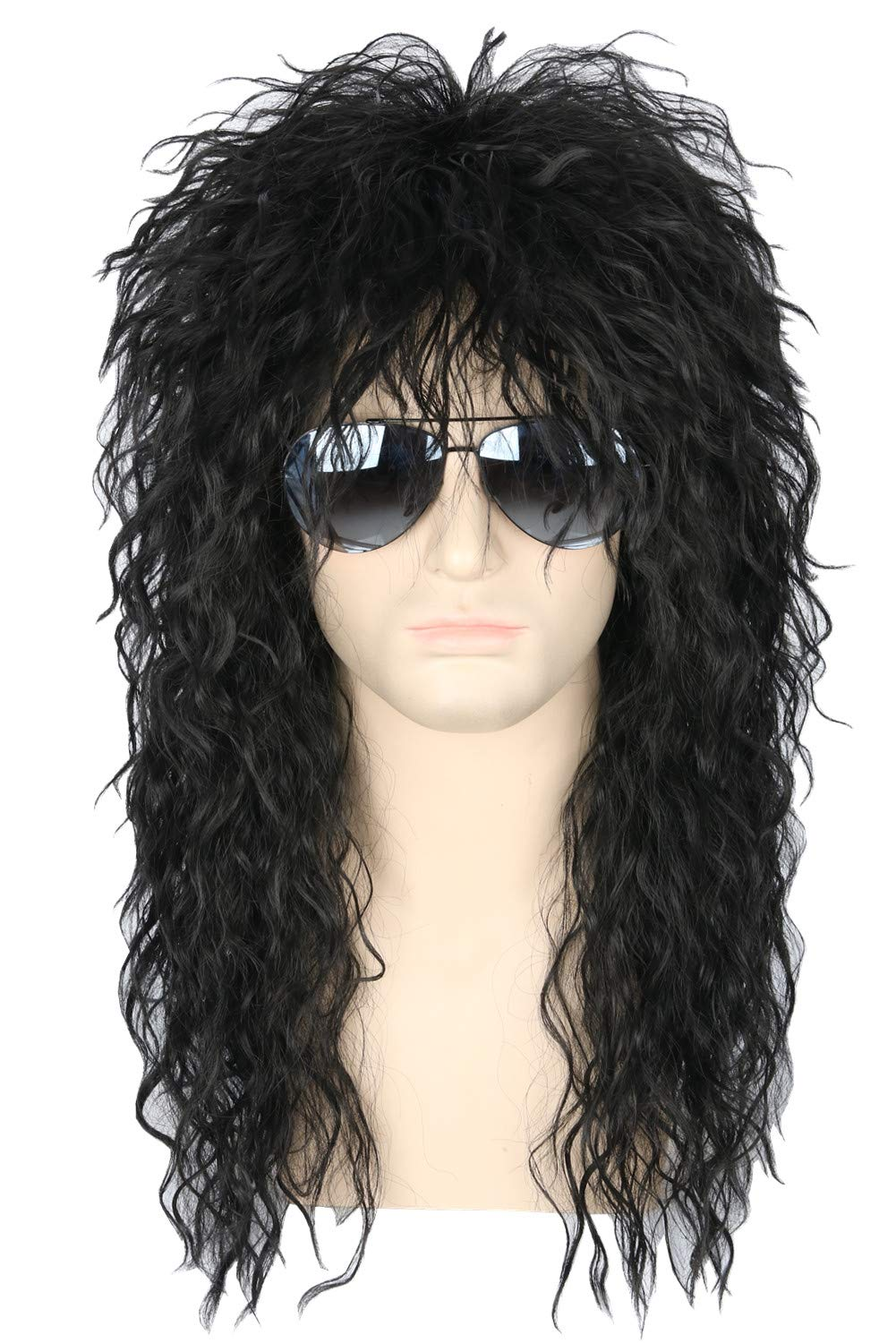 Hard Rock Rocker 80s Wig Adult Costume Accessory Black