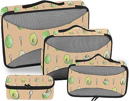 Avocado 3 Set Packing Cubes,2 Various Sizes Travel Luggage Packing Organizers s