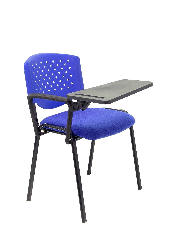 PIQUERAS Y CRESPO Pack 4 sillas 26PR respaldo azul asiento azul con ...