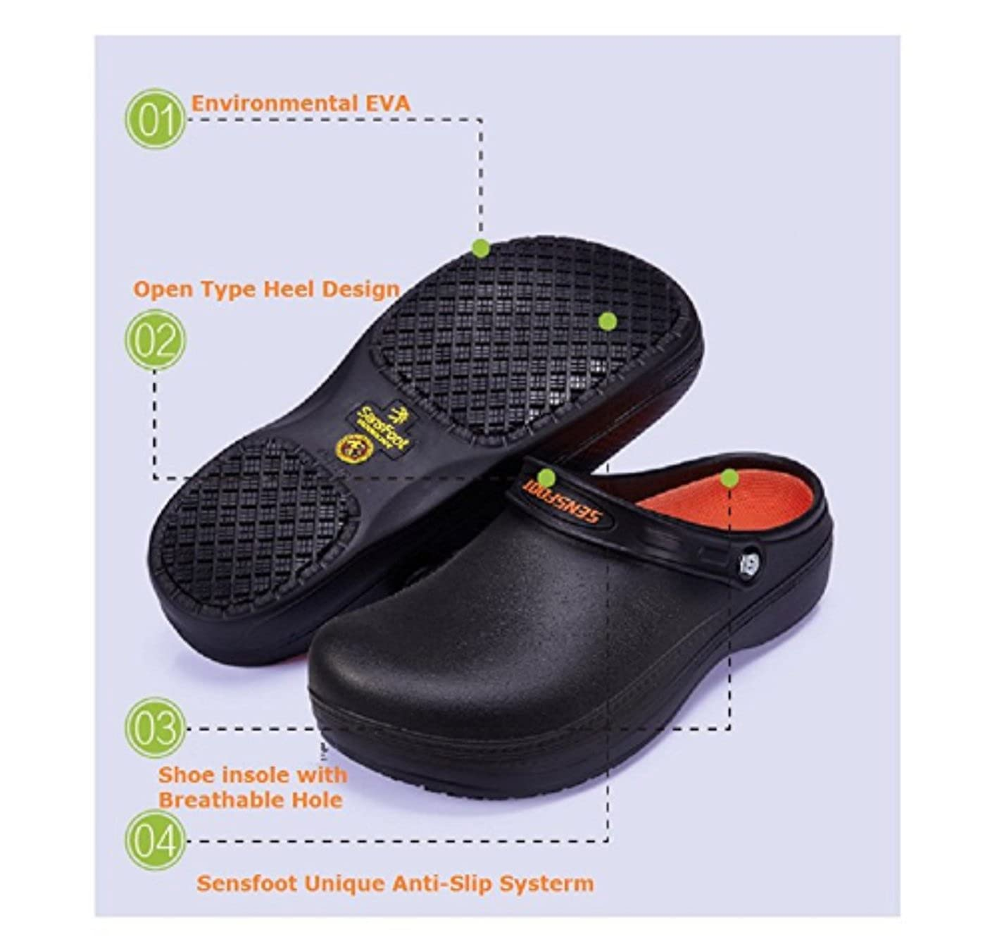 a94652edb08f5 Kitchen Shoes Non Slip Safety Shoes Working for Chef Slip Resistant Clog