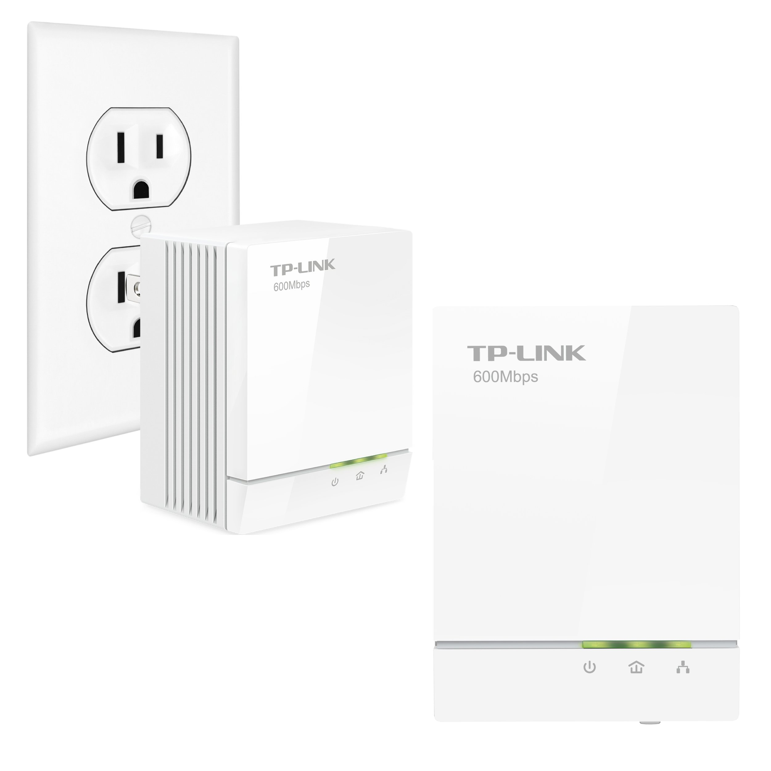 TP-Link AV600 Powerline Adapter Starter Kit, Up to 600Mbps, Gigabit Ports, Plug and Play, Power Saving Mode (TL-PA6010KIT) by TP-Link