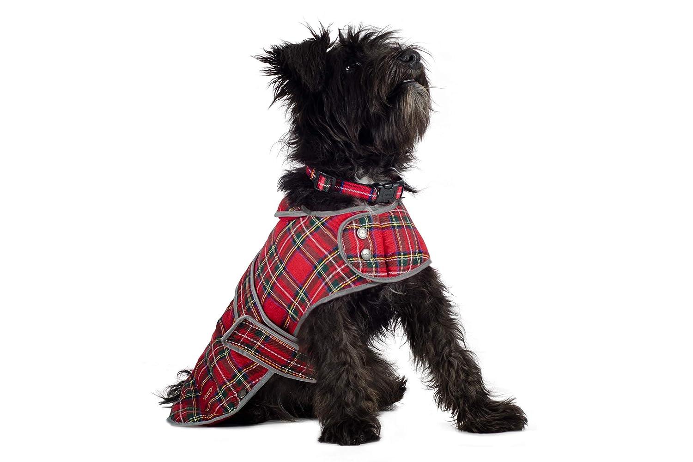 Ancol Muddy Paws Highland Dog Coat, Red Tartan, Large