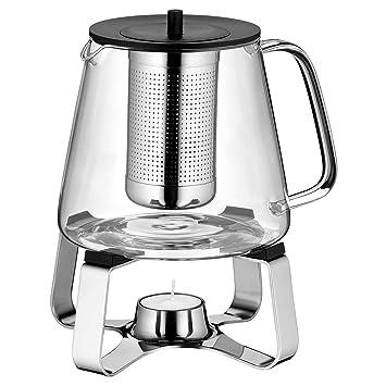 Wmf Teatime Teekanne Mit Sieb Und Stövchen Glas Edelstahl