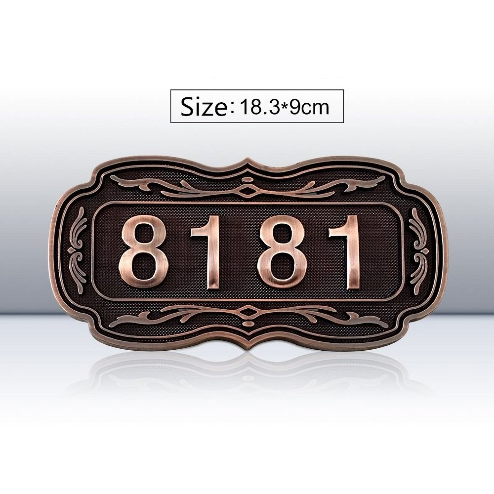 Damofy Custom home address signs brand hotel room apartment room vintage plaque embossed door logo … (B)