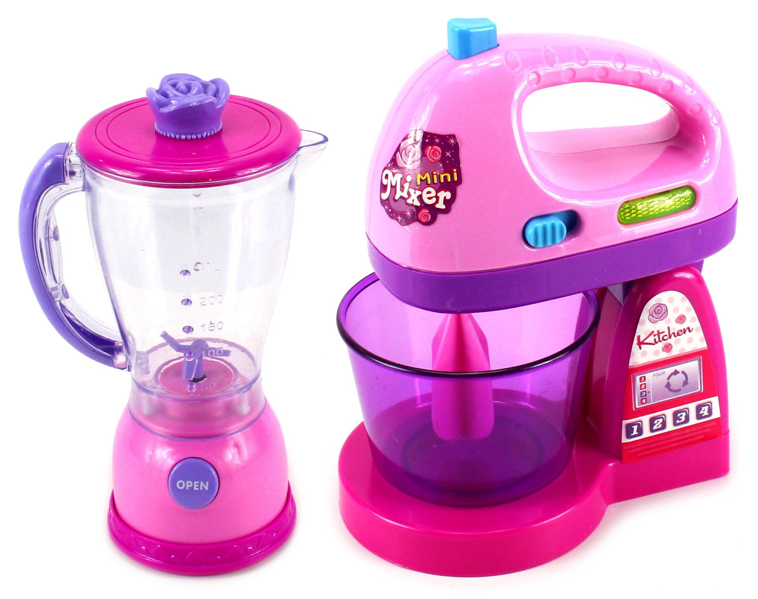 Happy Kitchen Blender Mixer Pretend Play Battery Operated Toy Home Appliances Play Set by Velocity Toys