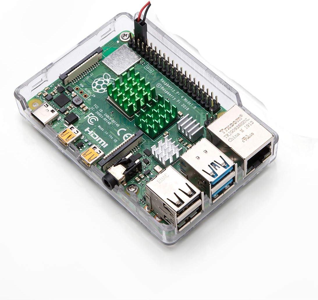 Aukru 4 Pcs Cooling Kit Heatsinks with Thermal Adhesive Tape for Raspberry Pi 4
