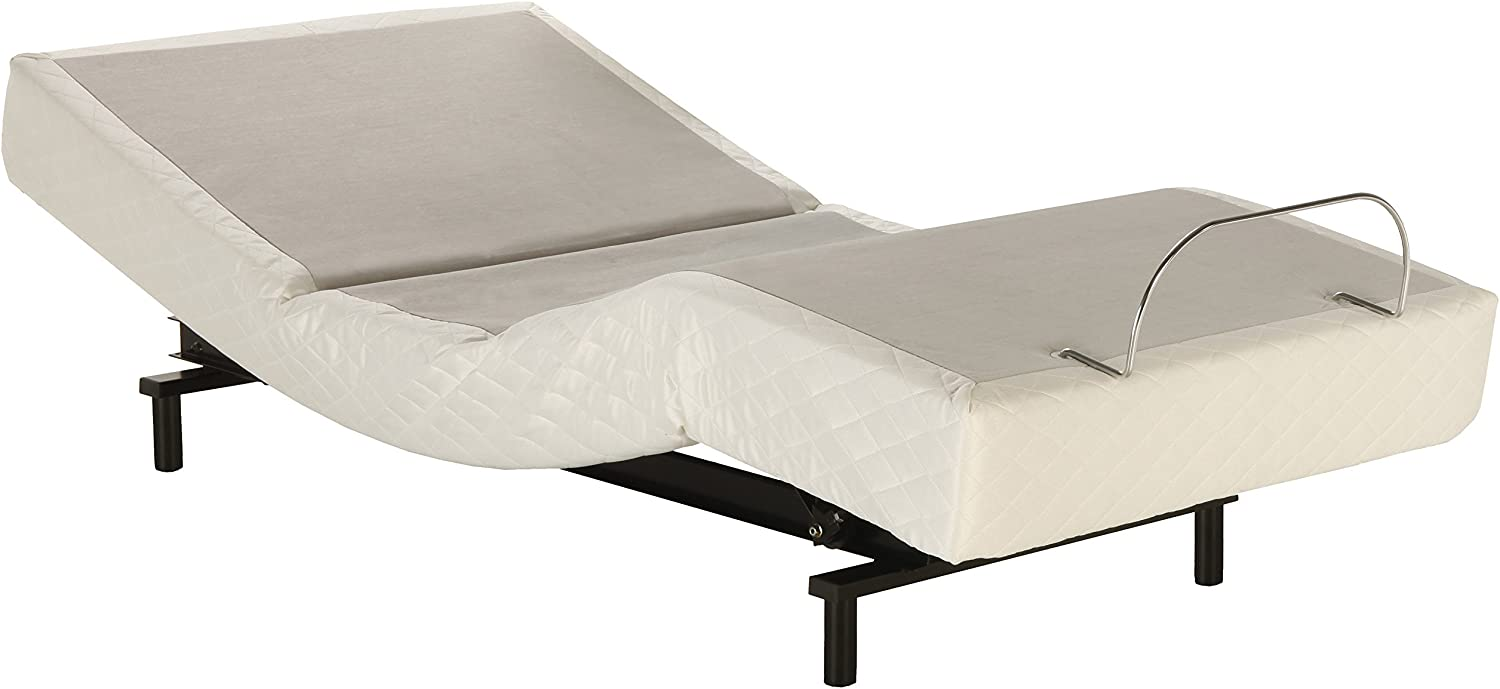 Adjustables by Leggett & Platt S-Cape Adjustable Bed Base, Wireless, Wall Hugger, Massage, Zero Gravity, Full