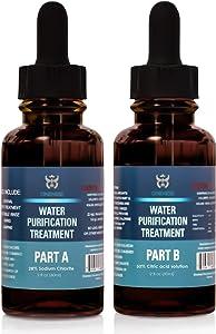 Oneness Chlorine Dioxide Kit 2 Part Liquid Classic 1:1 Set Citric Acid 50% : Sodium Solution (2oz)