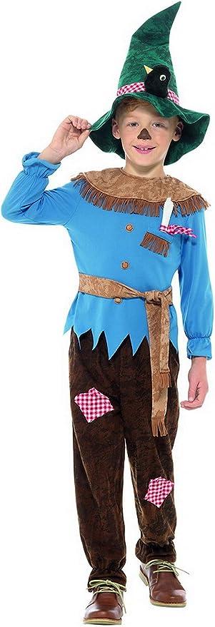 Halloweenia Disfraz de espantapájaros para niños, Pantalones de ...