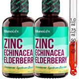 Zinc Triblend Supplement with Black Elderberry and Echinacea (2 Pack/2oz.), Zinc Sulfate for Better Absorption | Potent Liqui