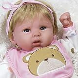 Paradise Galleries 19 Inch Realistic & Lifelike Baby Doll, Happy Teddy, Baby Soft Vinyl (Blue)