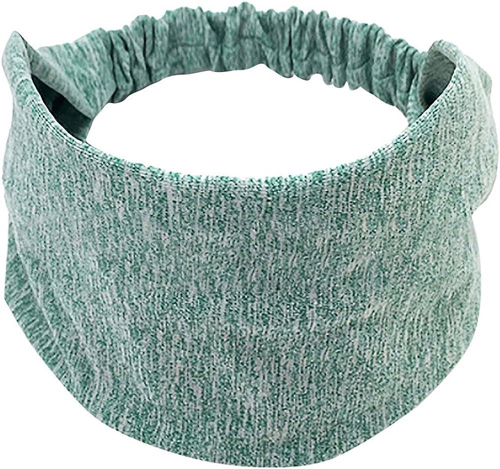 Ximandi Wide Elastic Sport Yoga Headband Women Cotton Knotted Turban Head Warp Band