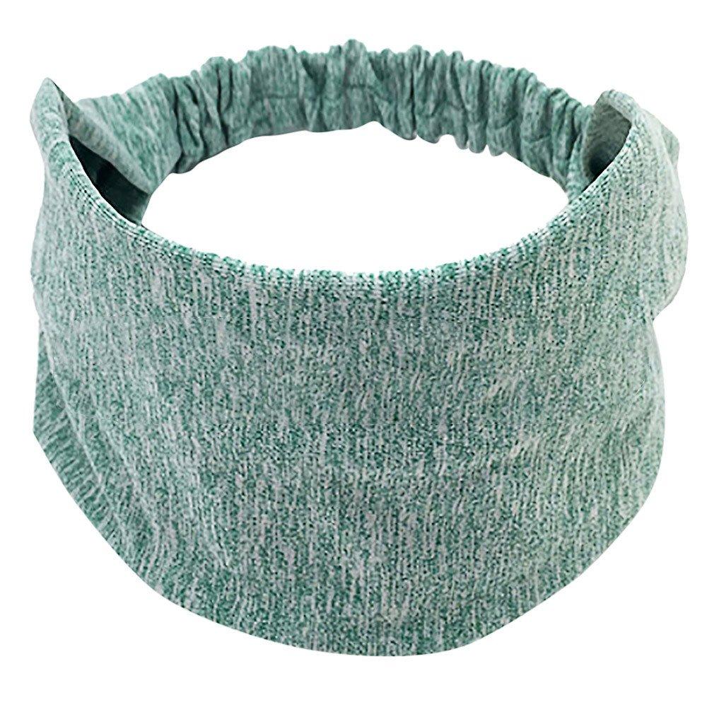 Ximandi Wide Elastic Sport Yoga Headband Women Cotton Knotted Turban Head Warp Band Medium)