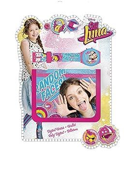 Soy Luna Set con reloj de pulsera digital y billetera unica Kids Euroswan WD18193: Amazon.es: Juguetes y juegos
