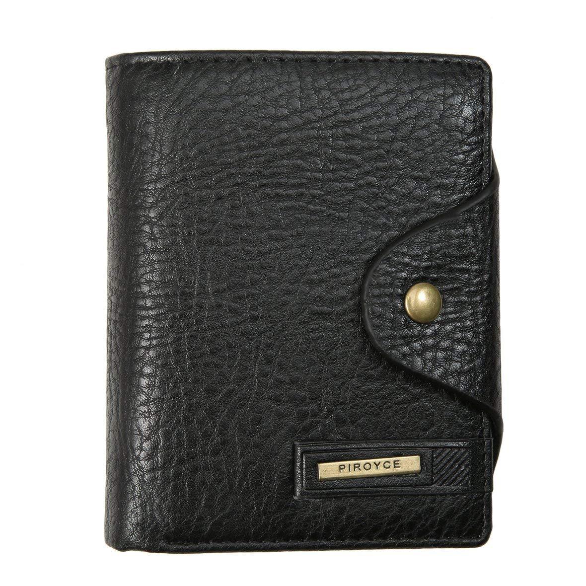 Heaviesk Portefeuille Vintage Hasp Open Wallet Short Men Wallet Sac à main en cuir PU pour homme avec portefeuille horizontal/vertical