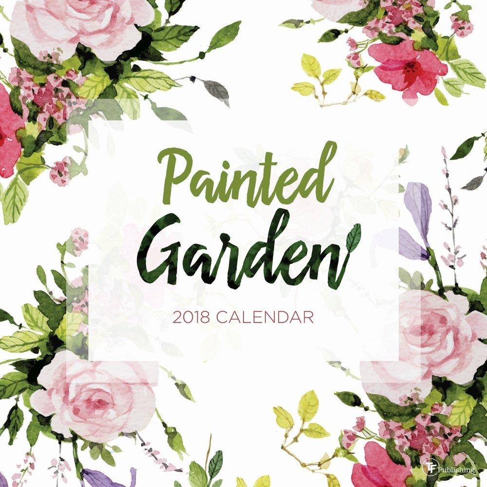 2018 painted garden wall calendar