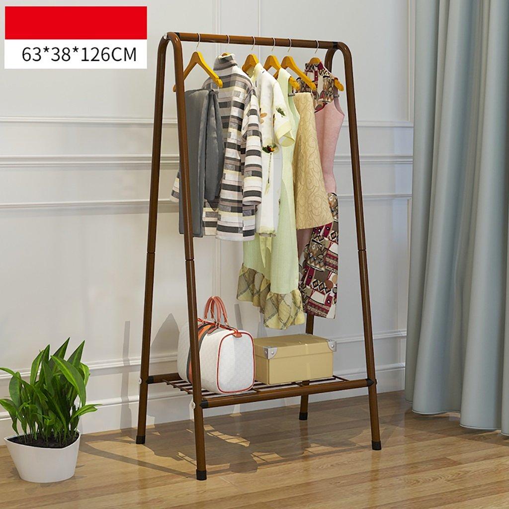 シンプルな床スチールラックラック/ファッション創造的な衣服ラック掛け服ラック   B07KVR66XN