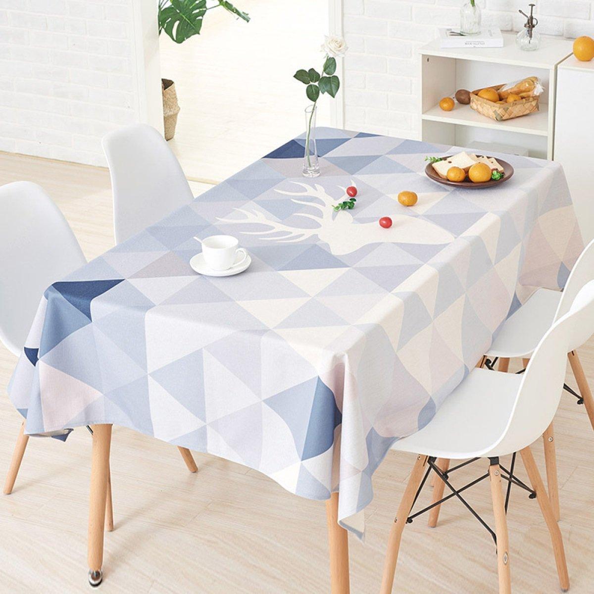 D 140200cm (55.178.7in) TAO NAPPES Tissu Coureurs Table à Thé Tissu Coton Nappe Rectangulaire Cuisine Maison Maison Nappe Décor à La Maison Bar Café Usure Résistant (Couleur   A, Taille   140  180cm (55.1  70.9in)