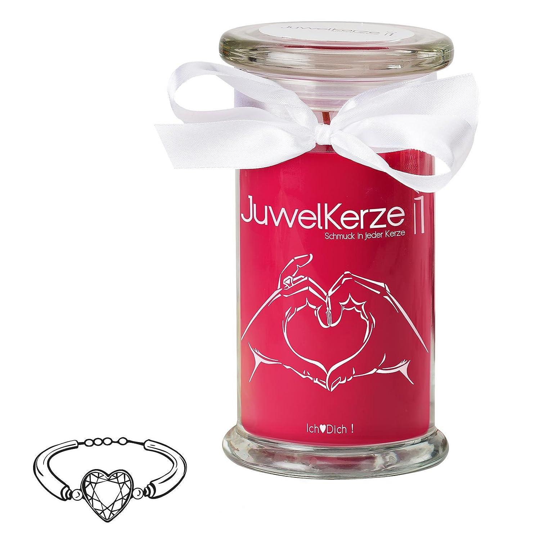 Amazon.de: JuwelKerze Ich liebe Dich - Kerze im Glas mit Schmuck ...