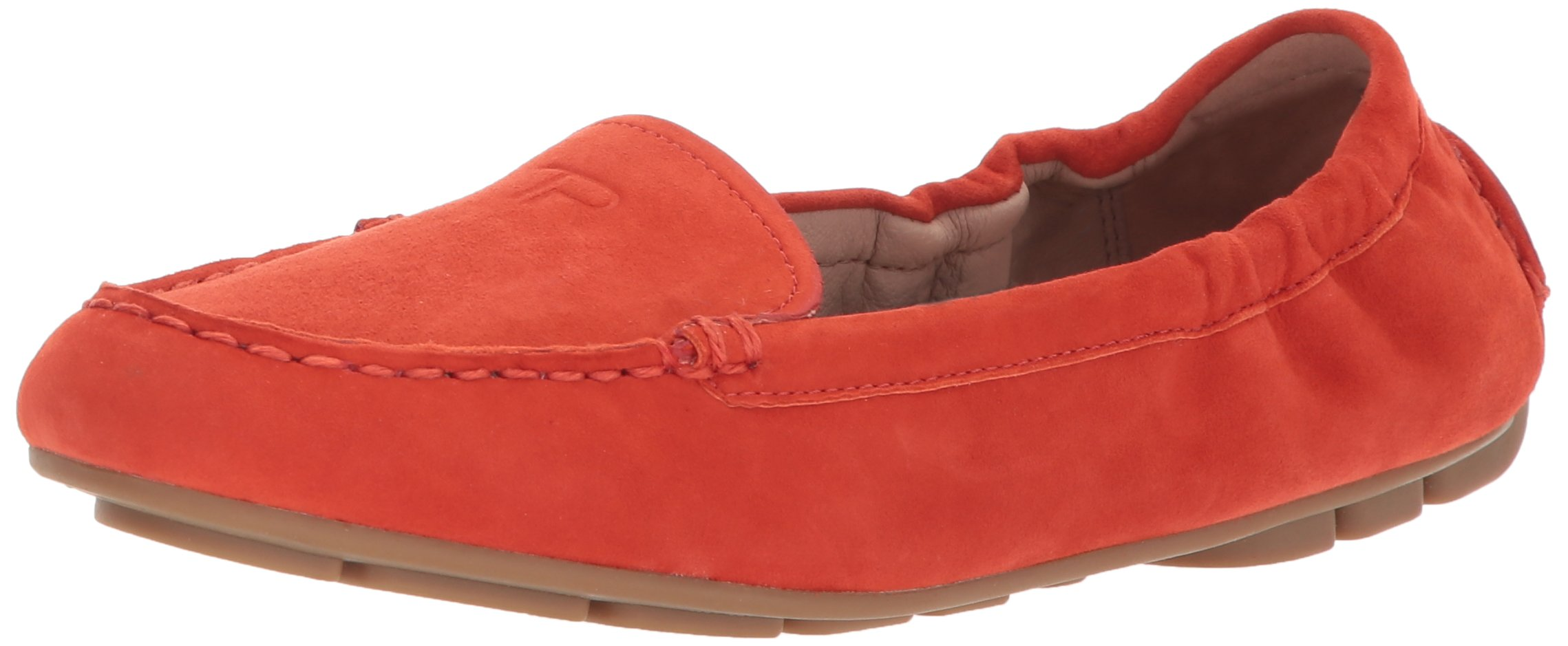 Taryn Rose Women's Kristine Silky Suede Driving Style Loafer, Poppy, 8 M M US