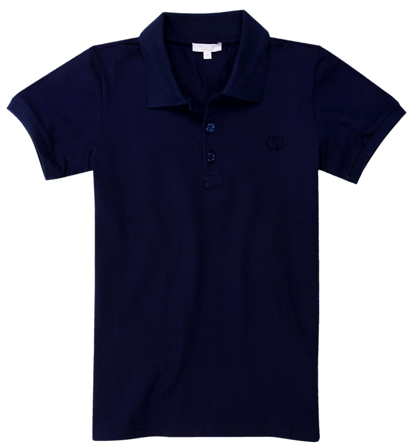 GUCCI Boys Polo shirt dark blue 311630-4057, old child size:8 years
