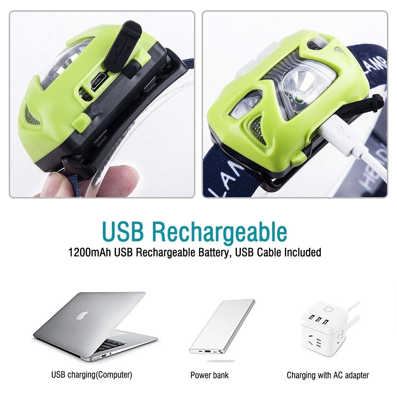 Amazon.com: Linterna Recargable Detector De Movimiento Impermeable 6 Modos Adultos Niño: Kitchen & Dining