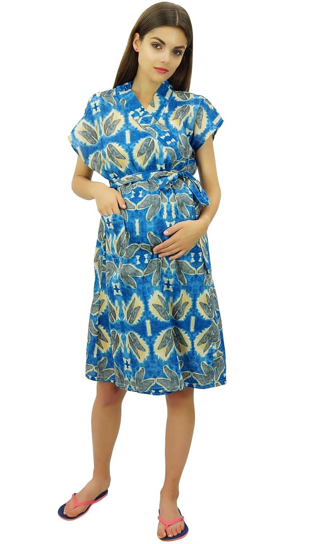 Bimba Bata De Maternidad De Algodón Con Cinturón De Enfermería Encubrimiento Con Botones De Hombro: Amazon.es: Ropa y accesorios