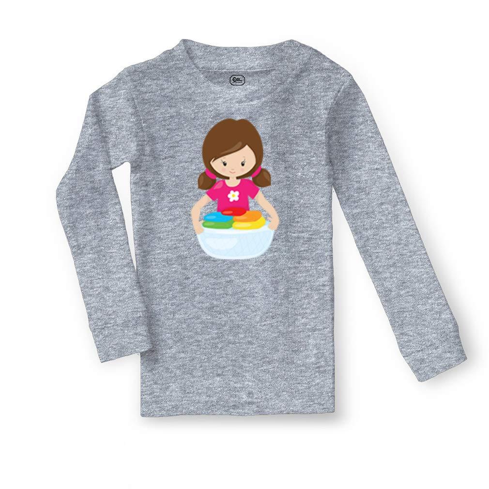 Girl Holds Clothes Brown Cotton Boys-Girls Sleepwear Pajama 2 Pcs Set