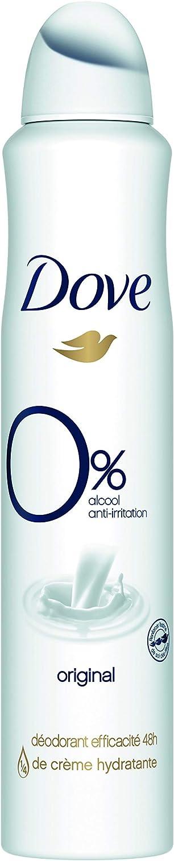 Dove Original - Desodorante 0% sales de aluminio, aerosol, 200 ml, 24 horas