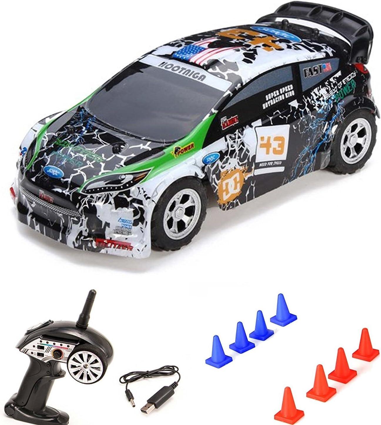 HSP Himoto 1/24On-Road Mini RC teledirigido Auto Rally Car, 2WD de tracción y 2.4GHz Top de velocidad de hasta 25Km/h, Set completo RTR