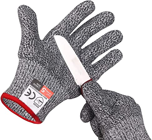 Kitchen Cooking Sports Work Fit Cut-Resistant Safety Anti-cut Full Finger Gloves