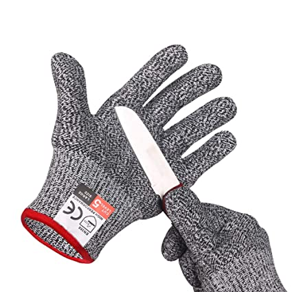 Cut Resistant Gloves,High Performance Level 5 Protection Safety Kitchen  Gloves … (Medium)