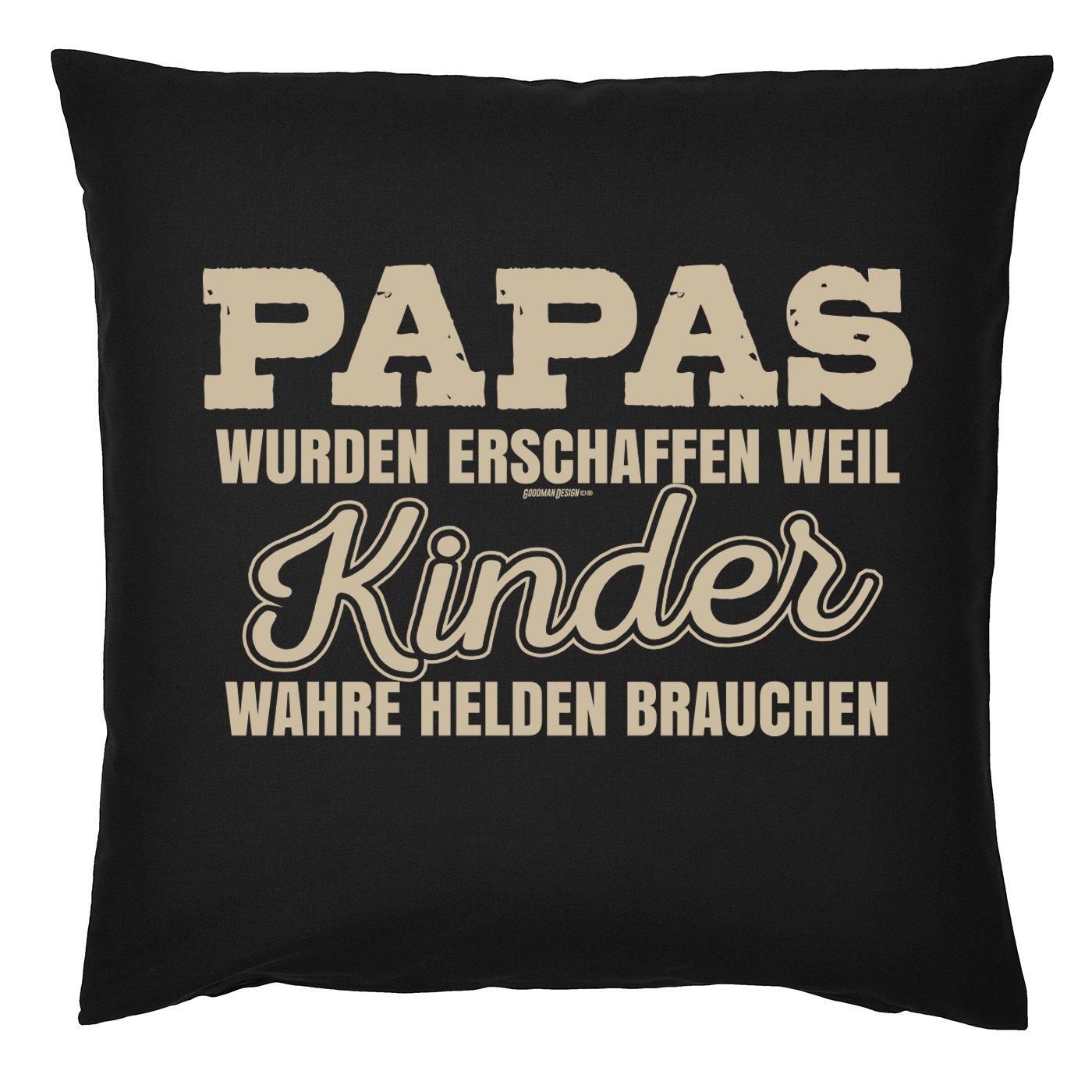 Mega-Shirt Kissen f/ür V/äter cooles Kissen mit F/üllung Papas .wahre Helden Geschenk f/ür Papa zum Vatertag cooler Polster f/ür Papa Weihnachten Geburtstag