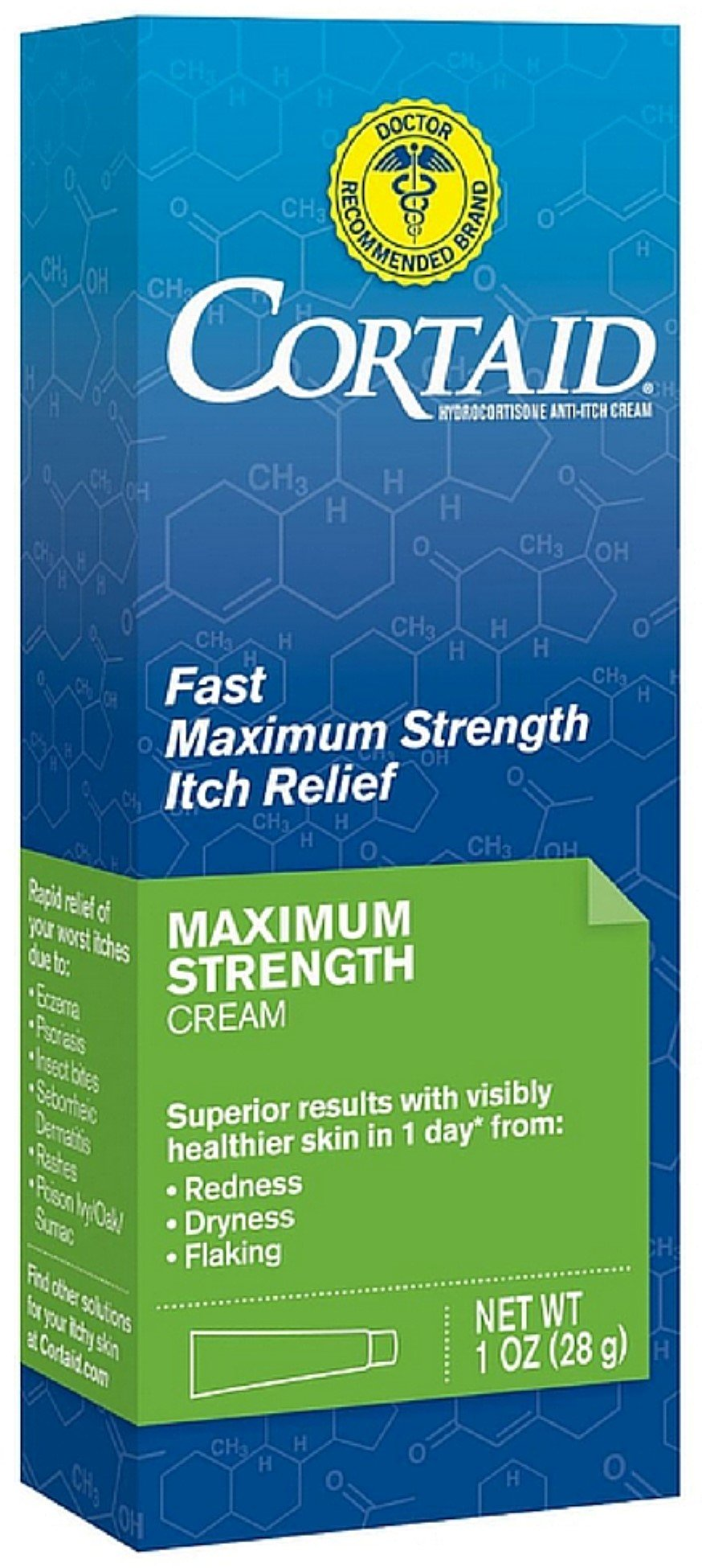 CORTAID Fast Maximum Strength Itch Relief Cream 1 oz (Pack of 10)