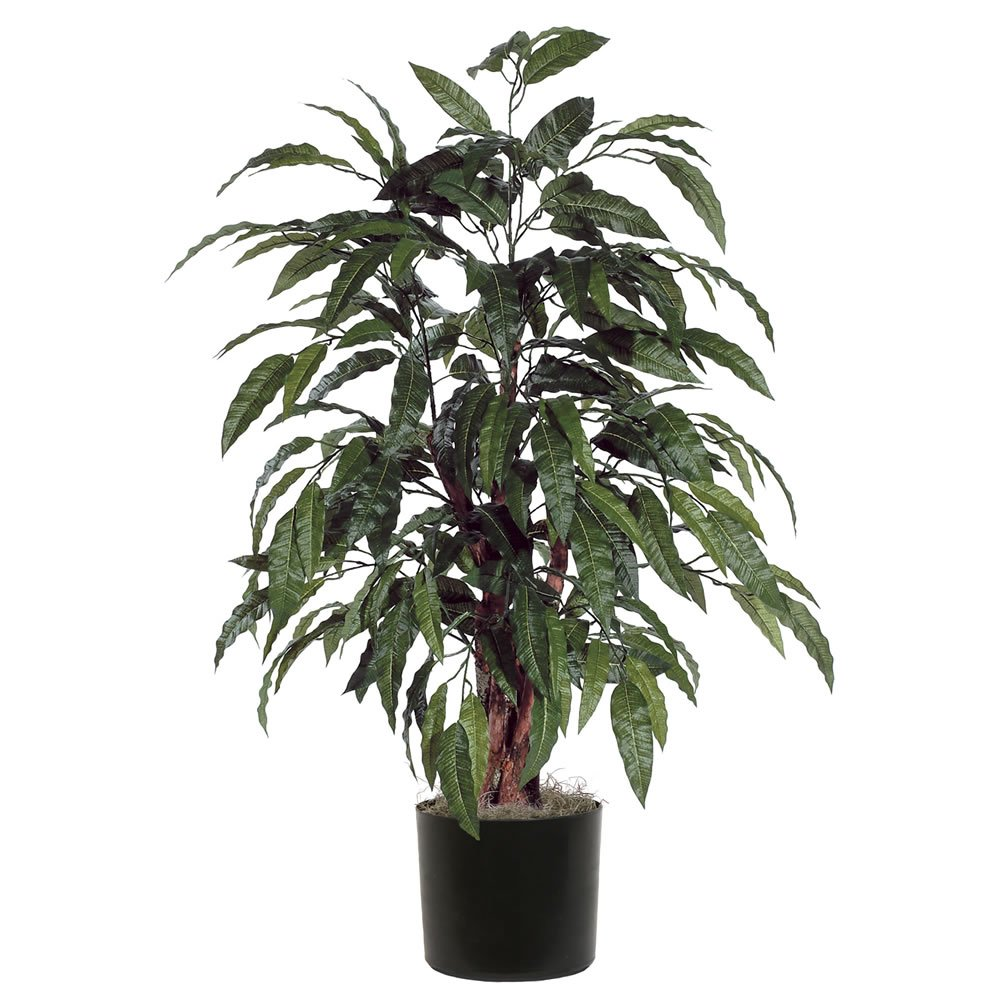 Vickerman TBU2840-06 Everyday Mango Bush, Green, 4'