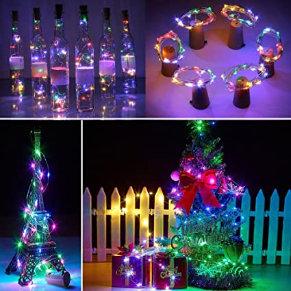 Wine Bottle Cork Lights 4 Pack of 20 LED Silver Wire String Lights Battery  Powered Cork - Amazon.com : Wine Bottle Cork Lights 4 Pack Of 20 LED Silver Wire
