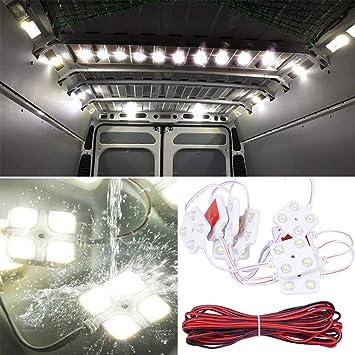 Lianqi 12V 10x4 LED Auto Luz interior Cúpula de techo Luz 5050 40SMD Panel Kit Luz
