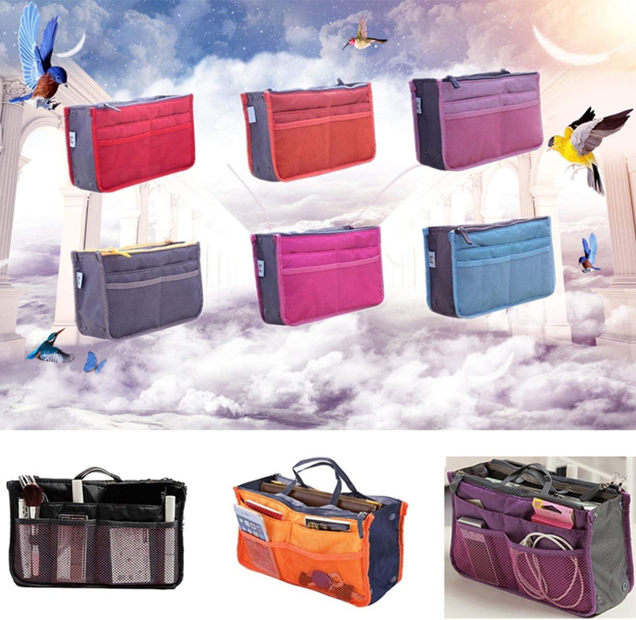 FYstar Female Tote Organizer Insert Bag Women Travel Insert Organizer Handbag