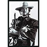 """Framed Art Print, 'Clint Eastwood': Outer Size 25 x 37"""""""