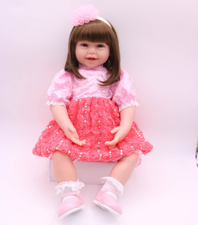 Pursue Baby 24 Inch Floppy Body Lifelike Toddler Princess Girl Doll Charlene